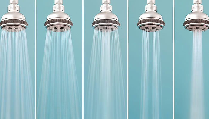 Low-flow showerhead for Conserving Water