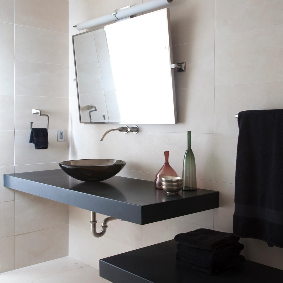Modern bathroom renovation project in orangevale ca for Bathroom renovation project